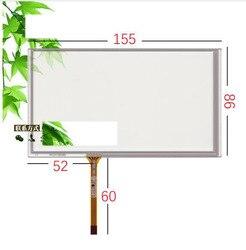 6.2 cal kolorowy ekran dotykowy nawigacji samochodowej HSD062IDW1 jana DVD uniwersalna maszyna ekran ekran do pisania ręcznego 155*86 w Ekrany LCD i panele do tabletów od Komputer i biuro na
