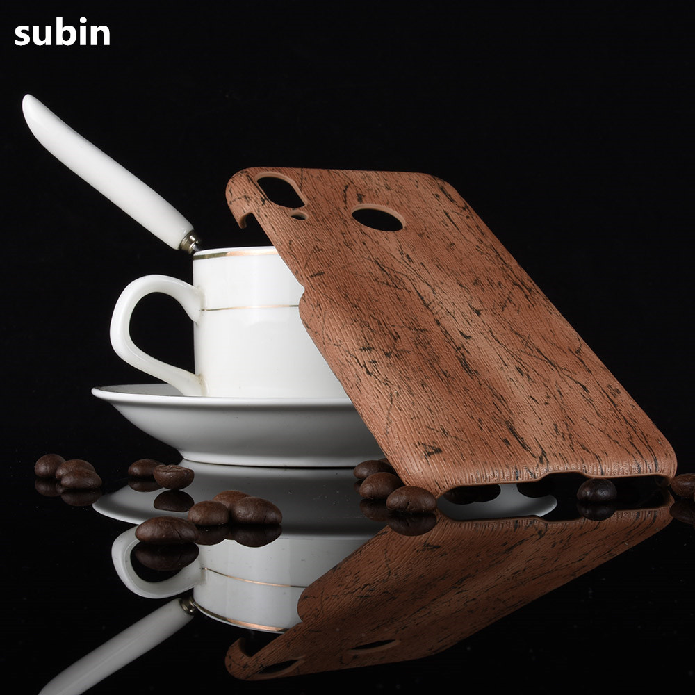 For Asus Zenfone Max M1 ZB555KL Phone Case Bumper PC Plastic PU Leather Cover For Asus Zenfone Max (M1) ZB555KL Wood Cases