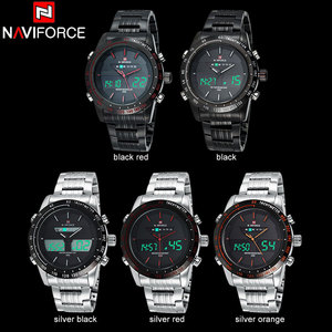 Image 4 - NAVIFORCE Top Brand Mens Sport Watch Men Stainless Steel Analog Digital LED Watches jam tanga Clock Relogio Masculino