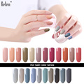 Belen Nail Polish Soak OFF Gel UV LED Gel Varnishes Lamp Cosmetic Art Manicure Gray Color Nail Varnishes Nude Gray Color Lacquer