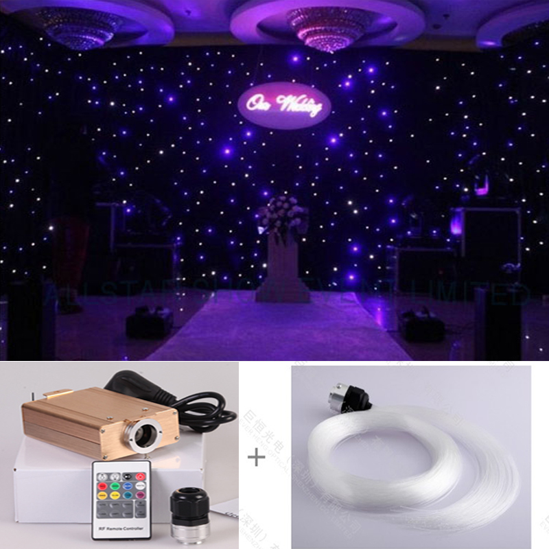 DIY star starry wall LED optic fiber light kits for party and wedding stage decoration lights 5pcs colorful led luminous optical fiber hair braid decoration for party stage performance