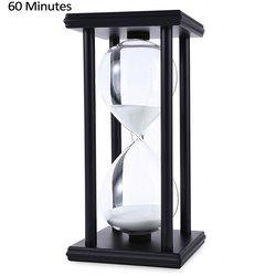 الساعة الرملية الرملية الخشبية 45/60 دقيقة 20.5*10*10 مؤقت تنازلي ساعة عيد الميلاد هدية عيد ميلاد ديكور المنزل Reloj دي الساحة