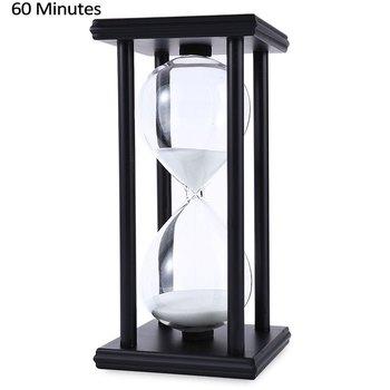木製砂時計の砂砂時計 45/60 分 20.5*10*10 カウントダウンタイマー時計クリスマス誕生日プレゼントの家の装飾リロイデアリーナ
