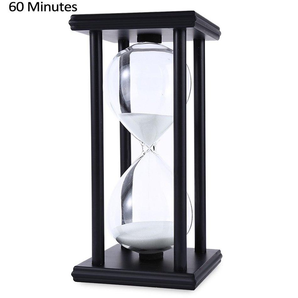 Ampulheta de areia de madeira 45/60 minutos 20.5*10*10 contagem regressiva temporizador relógio natal presente aniversário decoração para casa reloj de arena