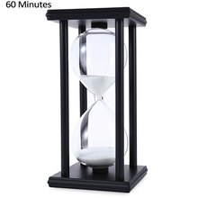 Modern Wooden Hand-Blown 1 Hour 60 Minutes 7 Color Color Sand Sandglass Hourglass Timer Clock Xmas Birthday Gift Toys Decorating