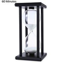2016 горячая распродажа деревянные песочные часы 60 минут размер 20.5*10*10 см таймер часы рождество день рождение дом декор
