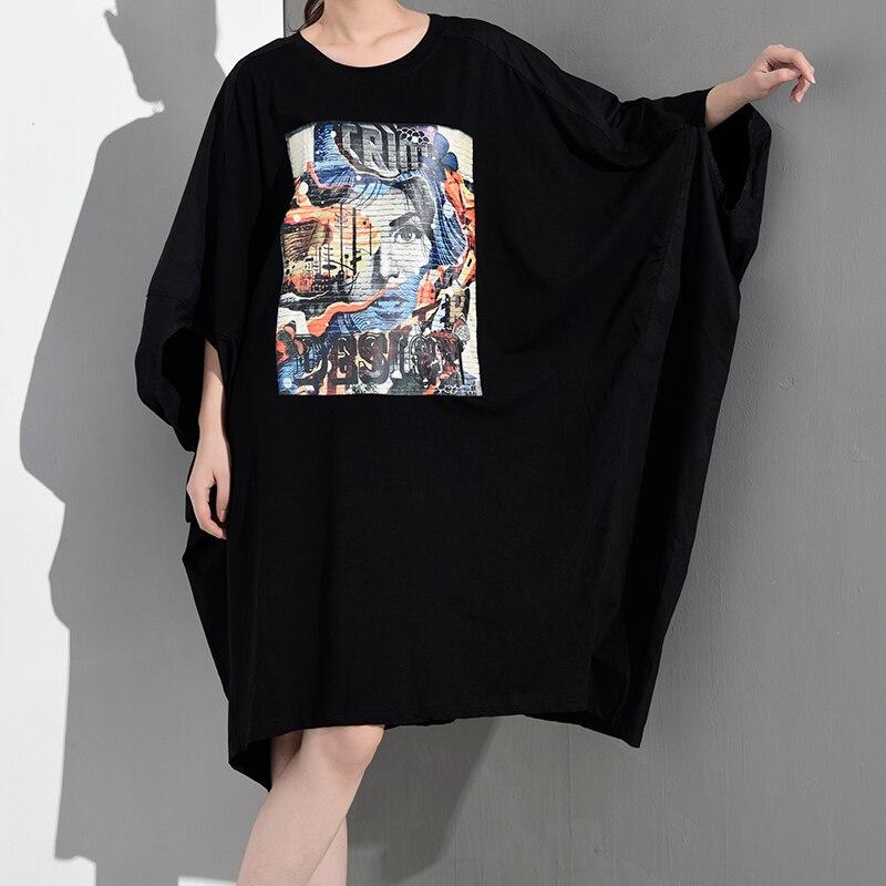 New Fashion Style Pattern Printed Loose Big Size Dress Fashion Nova Clothing