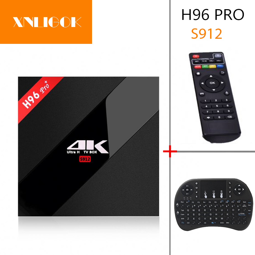 H96 pro plus android 7.1 caixa de tv + 2g/16g 3g/32g amlogic s912 octa núcleo cpu 2.4g/5.8g wifi 4 k hd iptv m3u h96 pro caixa de tv inteligente