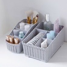 MeyJig Large Capacity Makeup Organizer Cosmetic Storage Box Makeup Display Case Brush Lipstick Holder Desk Bathroom Organizer(China)