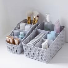 MeyJig duża pojemność Makeup Organizer kosmetyk Storage Box makijaż wyświetlacz Case szczotka szminka Holder biurko łazienka Organizator tanie tanio Plastikowe