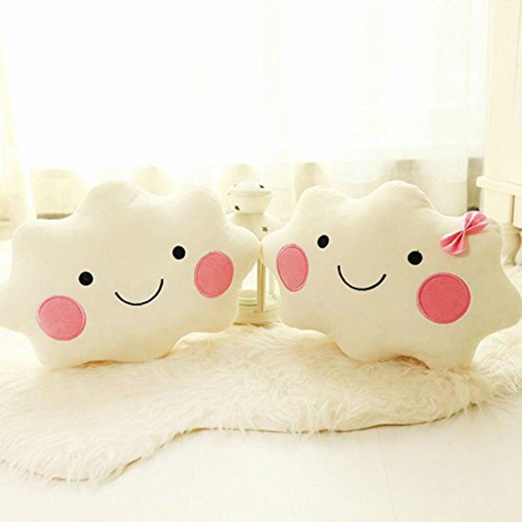 Lucky Boy Sunday New Cloud Plush Pillow Soft Cushion Kawaii Cloud Stuffed Plush Toys For Children Baby Kids Pillow Girl Gift