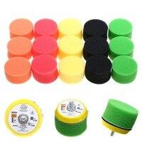 Mayitr 16 pièces/ensemble tampon de polissage plat avec plaque éponge Kit pour Air voiture polisseuse ponceuse outils électriques M6x1 2 pouces