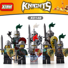 DR TONG Single Sale X0148 Medieval Knights Gladiatus Kingdom Knight Frieghtening Dragon Kinight Warrior Building Blocks