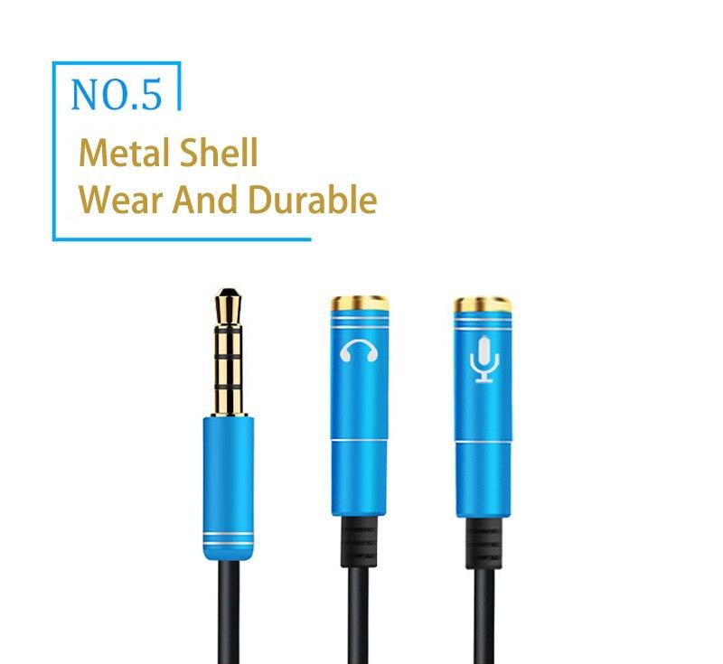 Audiokabel & -adapter Treu Aux Splitter Für 3.5mm Audio Iphone Audiosplitter Y-adapter 100% Garantie Computer, Tablets & Netzwerk