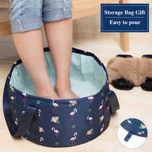 Foldable Camping Basin Portable Outdoor Travel Storage Wash Waterproof Folding Bucket Foot Massage Relax Bath Bag