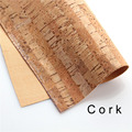 cork fabric Natural stripe cork leather natural Material Kork 60*88cm/23.6*34.6inch Cor-41