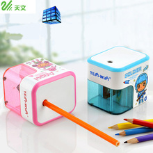 TENWIN Electric Pencil Sharpener Battery Operated Automatic Pencil Cutter 8003 For Office School Artists Adults Kids Cartoon стоимость