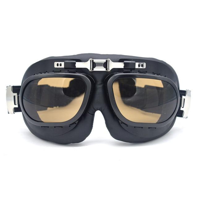 50d37c3754958 Mais novo SEGUNDA GUERRA MUNDIAL RAF Óculos de Proteção Da Motocicleta  Óculos de Aviador Retro Óculos