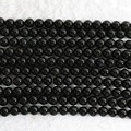 "Fashion black Obsidian stone 4mm 6mm 8mm 10mm 12mm 14mm round beads diy jewelry loose Beads 15"" B486"