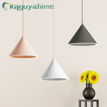 Kaguyahime 2019 New pendant lights 15W AC 110V 220V 240V Aluminum Lampshade Pendant Lamp Hanging Lamp for home office new products oval pendant lamp high end home office decoration hanging wire lights ac90 265v 60 20cm sales