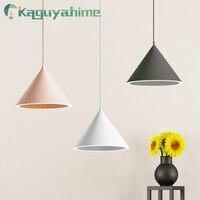 Kaguyahime 2019 New pendant lights 15W AC 110V 220V 240V Aluminum Lampshade Pendant Lamp Hanging Lamp for home office
