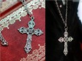 Vintage Silver Cross Necklace For BJD 1/3 SD10 SD13, SD17 Uncle Doll Accessories AC7