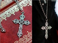 Vintage Silver Cross Necklace For BJD 1 3 4 6 SD MSD YOSD BJD Doll Accessories