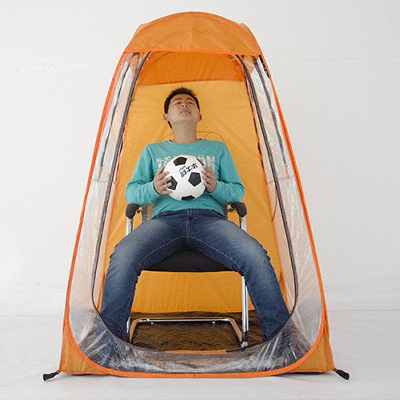 Orange football sports viewing tent concert tent greenhouse thermal insulation football forever football hits