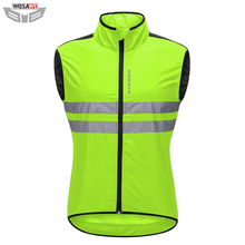 WOSAWE Motorcycles Reflective Jacket High Visibility Sleeveless Safety jacket Windproof off Road Night Riding Vest Breathable
