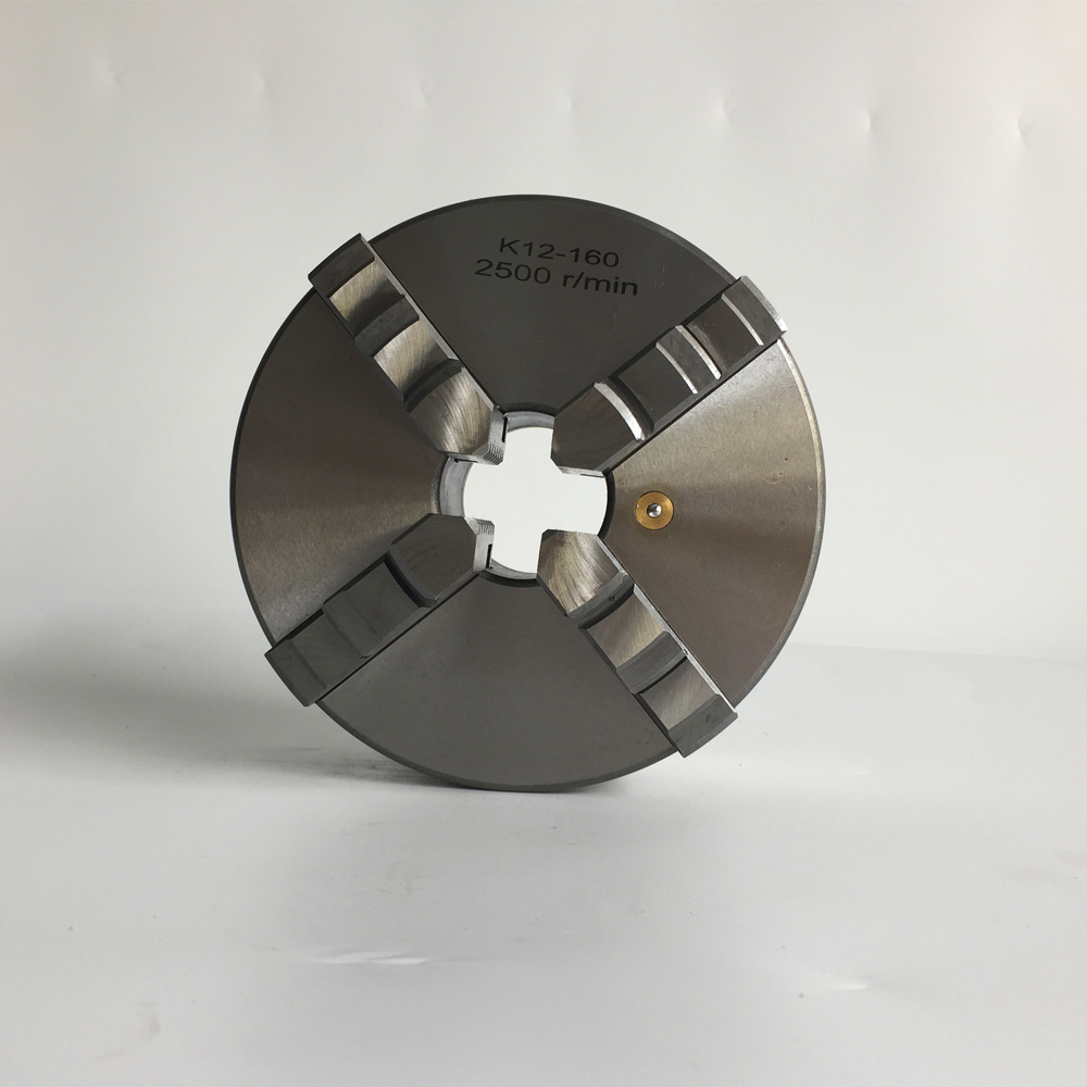 four jaw self-centering chuck 160mm K12-160 with hardened steel for mini lathe