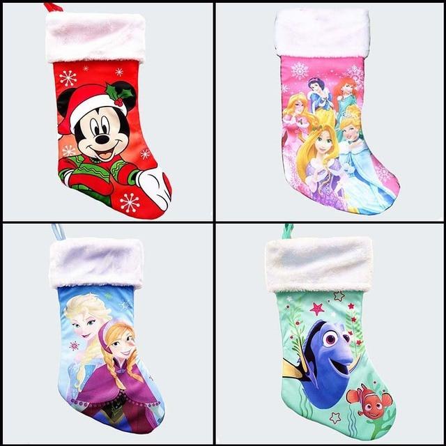 41 cm/16 polegada mancha grandes meias de natal minnie mouse de Pelúcia anna elsa nemo kid xmas stocking crianças doces sacos