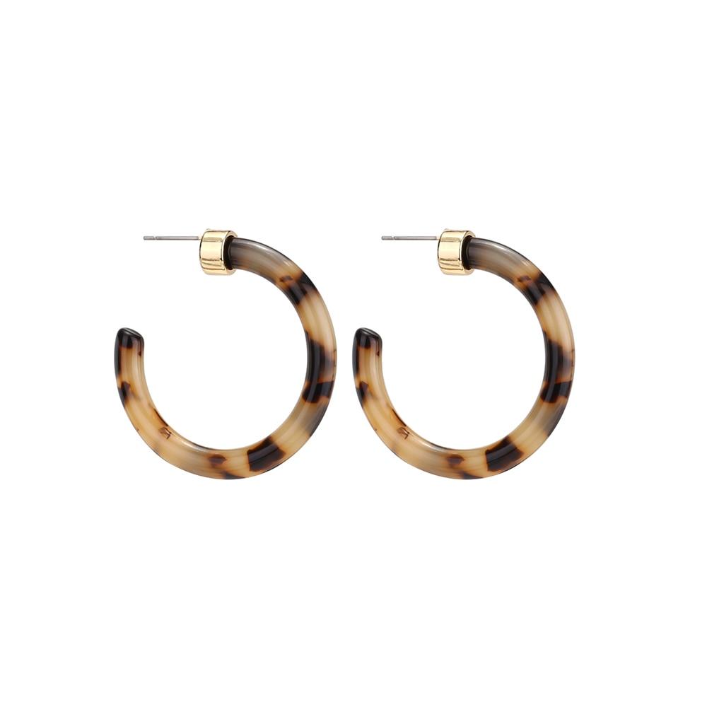 Женские леопардовые фигурные серьги ZA, висячие серьги черепаховой расцветки из акрилацетата, украшения для вечеринок - Окраска металла: 103652