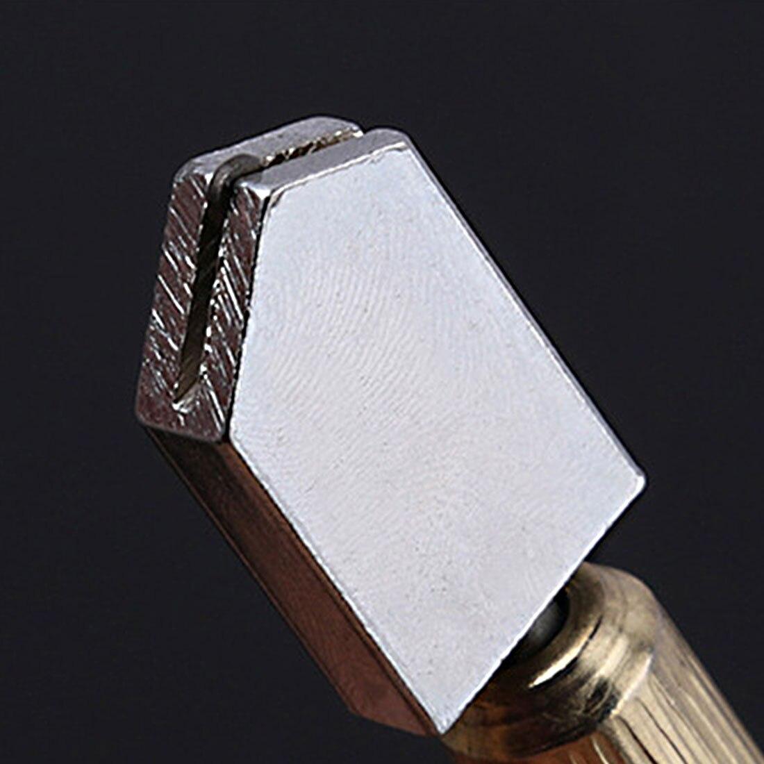 New Glass Cutting Tool Diamond Glass Cutter Antislip Metal Handle Steel Blade Oil Filled Bottle Glass Cutter