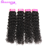 Shuangya Hair Brazilian Water Wave Hair Extensions 10-28Inch Natural Color Hair Weave Bundles 1PC Non Remy Can Buy More Bundles