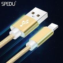 Spedu colour usb cables For iphone 6 6S 7 plus Nylon Line Metal Plug mobile phone cables For iphone 5 5S 5C SE