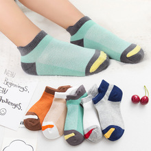 5Pairs/Lot Summer ChildrenS  Socks1-15 Years Thin Cotton Socks Boys And Girls Baby drop Shopping