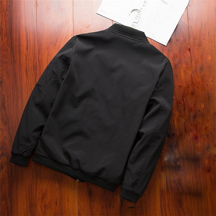 Men's Bomber Zipper Casual Streetwear Hip Hop Slim Fit Pilot Coat Men 21