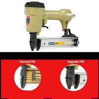 Upgrade Air Nailer Gun Straight Nail Gun Pneumatic Nailing Stapler Furniture Wire Stapler F30