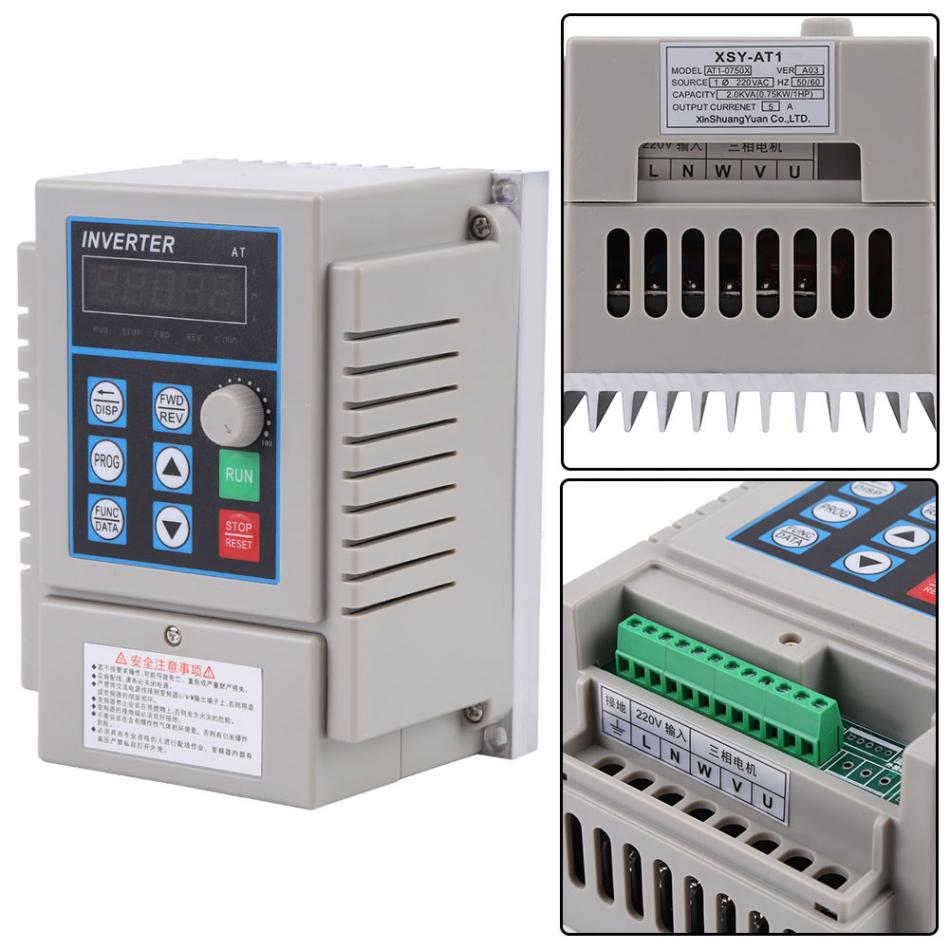 Buy Ac 220v 075kw Variable Frequency Drive Vfd The Solidstate Circuitry Of A Variablefrequency Can Be 1 X