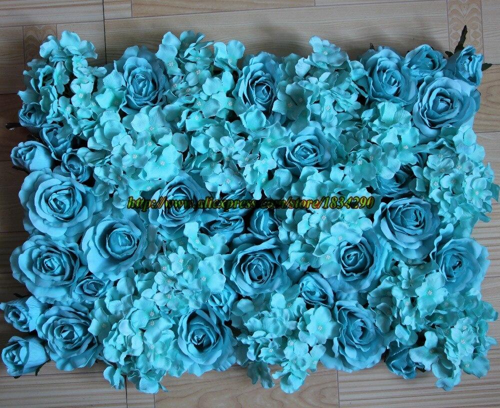 Fine Flower Wall For Wedding Embellishment Blue Wedding Color