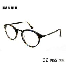 Original Acetate Glasses Frame Women Optical Frames Man Round Eyeglasses 49mm Retro Korean Eyewear Brands Monturas De Lentes