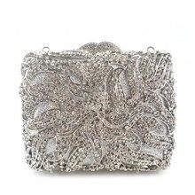 2016 frauen Handgefertigten Strass Tag Kupplung Hochzeit Bridal Party Pochette Mariage Pochette Paty Metall Tasche