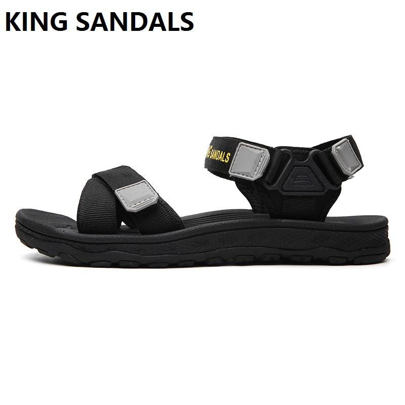 New Style All-Match Men's Breathable Open-toe Sandals Beach Cool Outdoor Shoes Anti-slip Students Slippers Summer Handsome Shoes