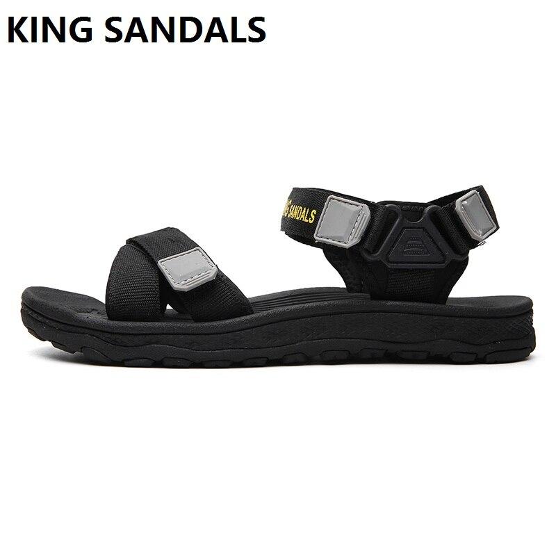 Nuevo estilo del todo-fósforo hombres transpirable abierta toe sandalias playa zapatos al aire libre fresco antideslizante estudiantes zapatillas de verano zapatos hermosos