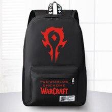 Neue Mode World Of Warcraft Leinwand Rucksack Junge Mädchen Schule taschen Für Jugendliche Männer Frauen WOW Spiel Laptop Rucksack Reise tasche