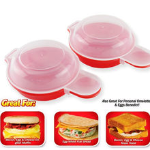 2pcs/lot Easy Egg Wich Cooking Tool Microwave Cheese Egg Cooker Fast Egg Maker()