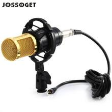 JOSSOGET BM 800 3.5 MM Jack Microphone À Condensateur Pour Enregistrement Sonore Radio Braodcasting avec Shock Mount Basse-réduction microfoon