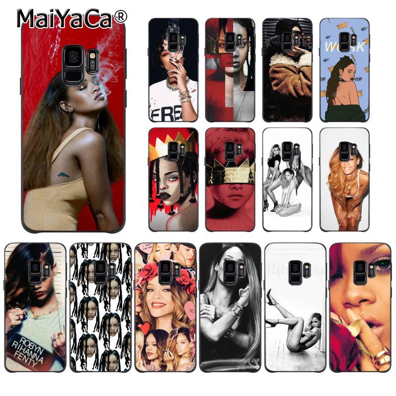 MaiYaCa Girls Rihanna Anti Work Pattern TPU Soft Phone Case for Samsung Galaxy S9 plus S7 edge S6 edge plus S5 S8 plus case