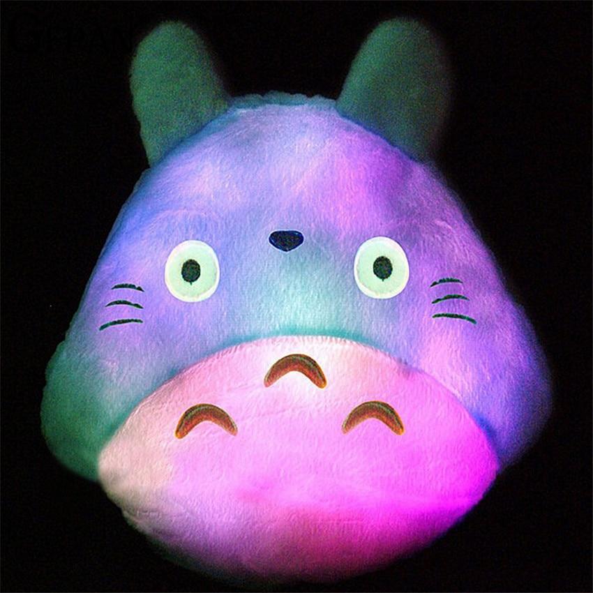 35*30cm New Totoro Led Luminous Plush Pillow Lovely Totoro Toy Wedding Gift Christmas Gift Birthday Gift toy for children