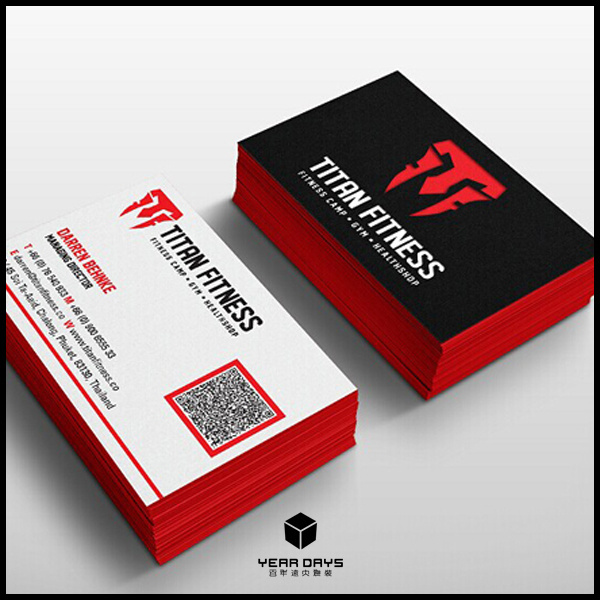 Colorful printing custom business cards red edge color logo with colorful printing custom business cards red edge color logo with hot red foil stamping colourmoves